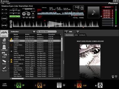 interface logiciel gestion médias pioneer dj rekordbox