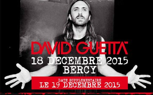 David Guetta Bercy 2015 prolongation